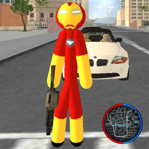 Iron Stickman Rope Hero Gangstar Crime Icon