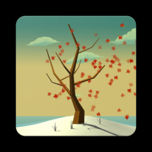 Tree With Falling Leaves Live Wallpaper - FREE Icon