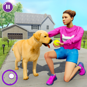 Family Pet Dog Home Adventure Game Icon
