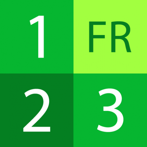 Numbers in French Icon