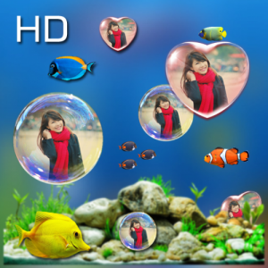 Bubble photo live wallpaper with aquarium Icon