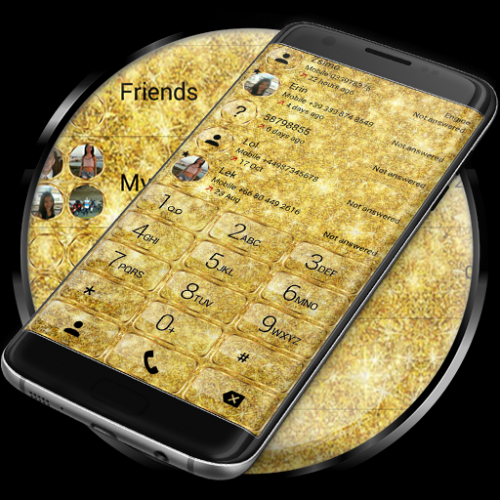 Dialer Glitter Gold Theme Icon