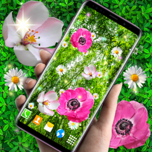 Pink Flower Live Wallpaper 🌺 Parallax Wallpapers Icon