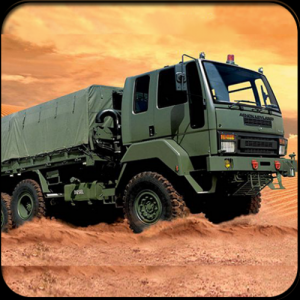 Super Army Cargo Truck Icon