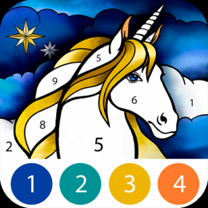 Unicorn Color by Number Icon