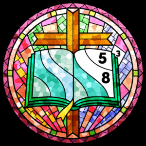 Stained Glass Color by Number - Adult Paint Book Icon