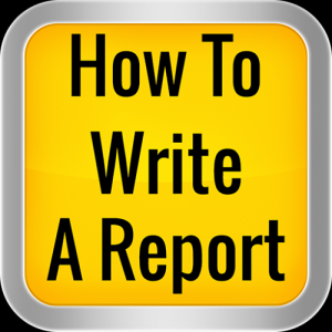How To Write A Report Icon