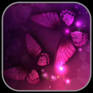 Pink Neon Purple Butterfly Theme Icon