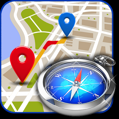 GPS Maps, Directions, Compass Maps and Weather Icon