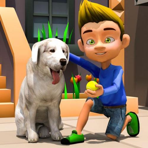 Dog Simulator Games - Dog Town : Puppy Pet Rescue Icon