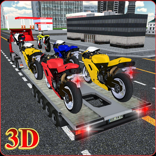 Bike Transport Truck 3D Icon